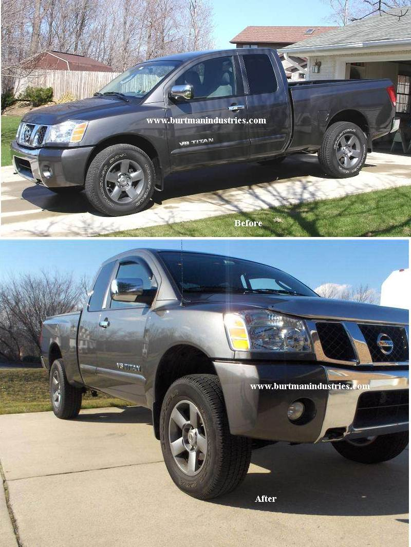 burtman industries lift and leveling kits special pricing nissan titan forum. Black Bedroom Furniture Sets. Home Design Ideas
