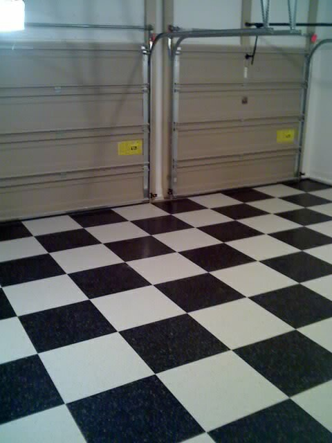Garage Plastic Flooring For Dining Room Carpet: VCT Tile Now Done. Looks Great!