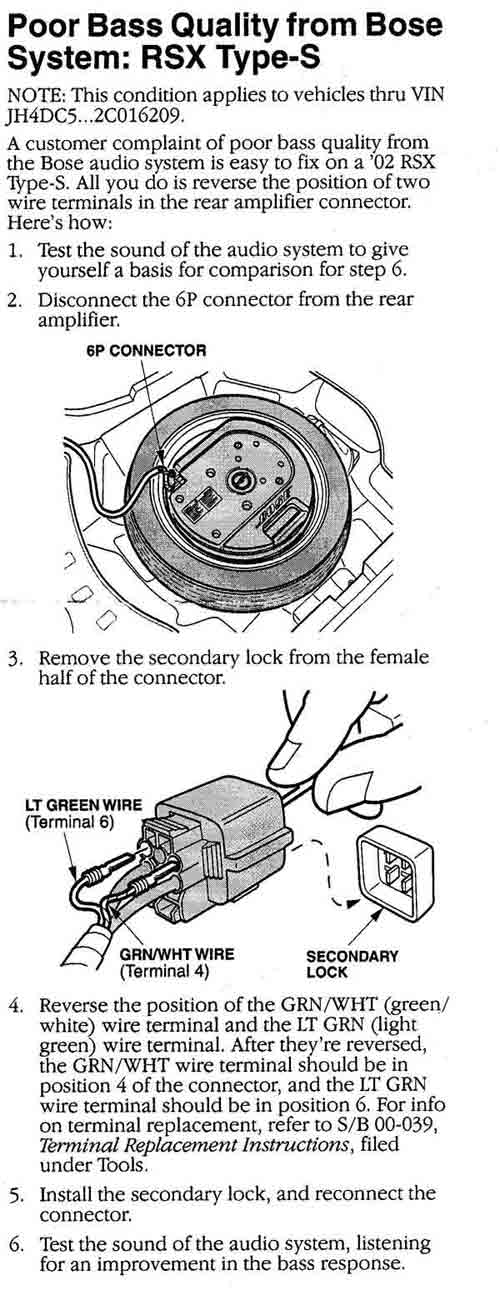 acura rsx bose spare tire sub installed in s2000 s2ki honda s2000 rh s2ki com 4 Ohm Subwoofer Wiring Diagram 4 Ohm Subwoofer Wiring Diagram